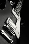 Close Up Shot Of Electric Guitar