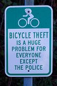 A View Of Road Sign bicycle Theft Is A Huge Problem For Everyone Except The Police In Vancouver poster