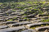 Detail Of The Famous Cobblestone Road Muur Van Geraardsbergen Located In Belgium. On This Road Every poster
