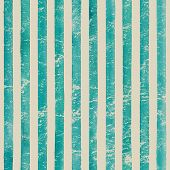 Vintage Paper. Watercolor Stripe Seamless Pattern. Teal Turquoise Stripes Background. Watercolour Ha poster