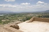 Mezquital Valley From A Mesoamerican Prehispanic Construction At The Pahñu Archeological Site, In Hi poster
