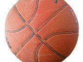 Viejo balón de baloncesto