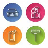 Set Line Brush For Cleaning , Plastic Bottles For Liquid Dishwashing Liquid, Plastic Bottles For Liq poster
