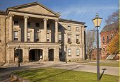 Province House in downtown Charlottetown, Prince Edward Island.  It is the birthplace of Confederati