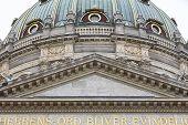 Marmokirken Dome Cathedral In Copenhagen City Center. Denmark Famous Heritage poster