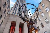 NEW YORK CITY, NY - 30 de dezembro: Rockefeller Center, na Quinta Avenida, em 30 de dezembro de 2011, na cidade de Nova York