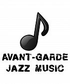 Avant-garde Jazz Music Graphic Illustration With Black Grunge Distressed Text And White Background.  poster