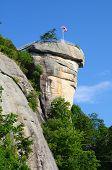 picture of chimney rock  - Chimney Rock at Chimney Rock State Park in North Carolina - JPG