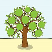 Family tree, vector