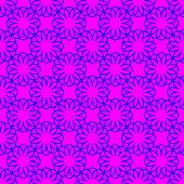 Abstract Blue Floral Pattern On The Magenta Background poster