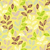 Packaging Tea Leaves Pattern Seamless Vector. Minimal Tea Plant Bush Leaves Floral Fabric Print. Her poster