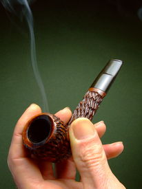 stock photo of tobacco-pipe  - Close - JPG