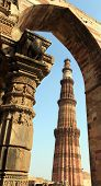image of british bombay  - through arch stands monument untouched by weather - JPG