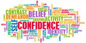 stock photo of self-confident  - Confidence in Personal Belief and Self Developing - JPG