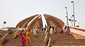 Tourists Visiting The Pakistan Monument In Islamabad
