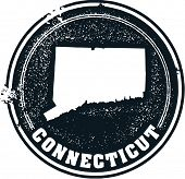 Vintage Connecticut USA State Stamp