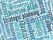 Strategic planning in word collage