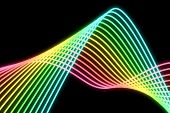 Glowing Neon Lines, Raster Image