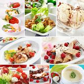 Collage de alimentos Gourmet