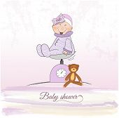Baby Girl Shower Announcement