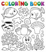 image of biodiversity  - Coloring book coral reef theme 2  - JPG