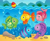 Fish theme image 6 - eps10 vector illustration.