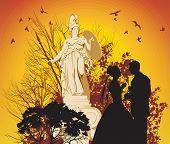 Novios y la diosa griega