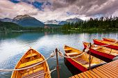 foto of wonderful  - Mountain lake in National Park High Tatra - JPG