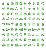 Green, ecologie en milieu pictogrammenset in vector-formaat