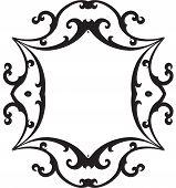 Black & White Scroll Frame