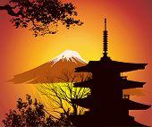 Image Of Japanese Landmarks poster