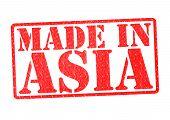 Hergestellt In Asien-Stempel