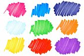 Colorful Ink Blots-very Large-set2