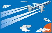 Vector Illustration Of Cartoon Big Plane.