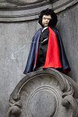Manneken Pis Dressed As A Vampire, Brussels