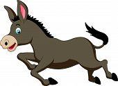 Cute donkey cartoon running