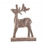 Christmas deer isolated