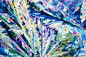 Tartaric Acid Crystals In Polarized Light