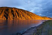 Clay Cliff At Yukon River Near Dawson City