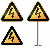 Warning Electric Sign