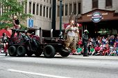 Vehicle From Road Warrior Movie Moves Through Dragon Con Parade