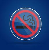 No smoking Glass on background