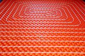 foto of floor heating  - Underfloor heating at home - JPG