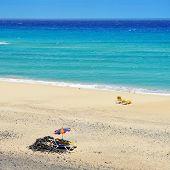 view of Butihondo Beach in Fuerteventura, Canary Islands, Spain