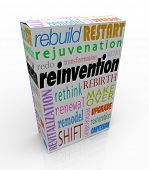 Reinvention Product Package Box Refresh Redo Restart