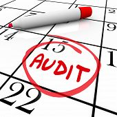 Audit Word Circled Calendar Date Meeting Appointment