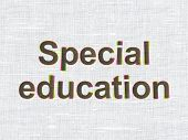 Education concept: Special Education on fabric background
