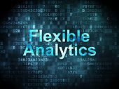 Finance concept: Flexible Analytics on digital background