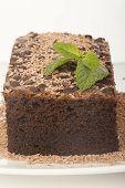 Chocolate Cake Isolated On White