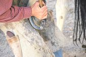 Farrier working.